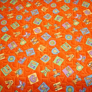Letras naranja